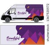 van cargo car wrap vector stock ... | Shutterstock .eps vector #1367520572