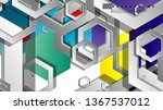 abstract geometric background... | Shutterstock .eps vector #1367537012