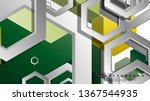 abstract geometric background... | Shutterstock .eps vector #1367544935