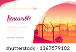 group of wind turbines using... | Shutterstock .eps vector #1367579102