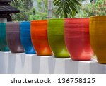 Colorful Potted Plants.
