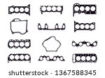 pack of 12 car gaskets. for...   Shutterstock .eps vector #1367588345