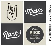 music design elements with font ...