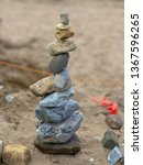 stone sculpture at the beach | Shutterstock . vector #1367596265