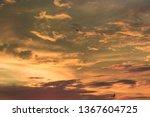 vivid dramatic twilight sunset... | Shutterstock . vector #1367604725