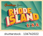 vintage touristic greeting card ... | Shutterstock .eps vector #136762022