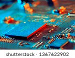 electronic circuit board close... | Shutterstock . vector #1367622902