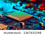 electronic circuit board close... | Shutterstock . vector #1367631548