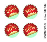 round price tags   Shutterstock .eps vector #1367639432