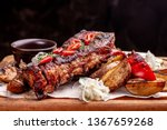 delicious barbecued ribs... | Shutterstock . vector #1367659268