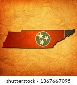 territory of Tennessee state isolated from other states of USA