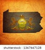 territory of pennsylvania state ... | Shutterstock . vector #1367667128