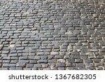 an old stoneblock pavement...   Shutterstock . vector #1367682305