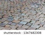 an old stoneblock pavement...   Shutterstock . vector #1367682308