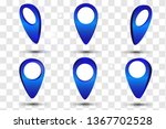 3d map pointer pin  | Shutterstock .eps vector #1367702528