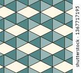 contemporary geometric pattern. ... | Shutterstock .eps vector #1367717195