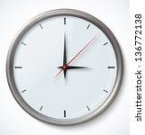 vector clock icon. vector...   Shutterstock .eps vector #136772138