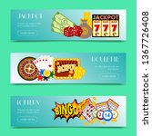 casino concept set of banners... | Shutterstock .eps vector #1367726408
