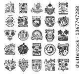 vintage surfing sport labels... | Shutterstock .eps vector #1367747288