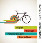 bicycle  vintage poster | Shutterstock .eps vector #136776098
