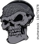 vector skull artwork | Shutterstock .eps vector #136776578