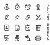 Business Icons And Office Icon...