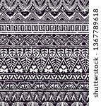 tribal black and white... | Shutterstock .eps vector #1367789618
