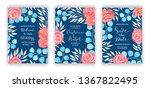 invitation card template vector ...   Shutterstock .eps vector #1367822495