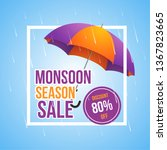 monsoon season sale rain... | Shutterstock .eps vector #1367823665