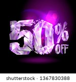 50   off sale banner concept... | Shutterstock .eps vector #1367830388