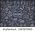 set of hand drawn delicious... | Shutterstock .eps vector #1367873402