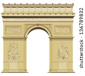 arch of triumph isolated on the ...   Shutterstock .eps vector #136789832