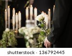 religion  death and dolor   ... | Shutterstock . vector #136792445