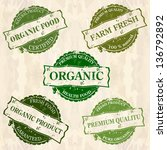 organic food  stamps | Shutterstock .eps vector #136792892