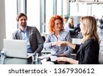 a group of young business... | Shutterstock . vector #1367930612