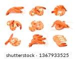 steamed shrimp isolated on... | Shutterstock . vector #1367933525