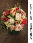 bouquet of flowers in the...   Shutterstock . vector #1367940095