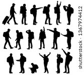 set realistic silhouettes of...   Shutterstock .eps vector #1367974412