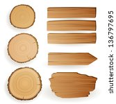 Vector Illustration Of Wood...