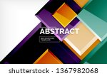 square abstract background ... | Shutterstock .eps vector #1367982068