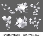 falling paper sheets. flying... | Shutterstock .eps vector #1367983562