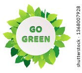 eco banner with green leaves.... | Shutterstock .eps vector #1368007928