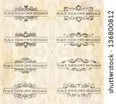vector set of calligraphic... | Shutterstock .eps vector #136800812