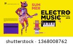 vector summer electro music... | Shutterstock .eps vector #1368008762
