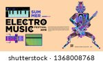 vector summer electro music... | Shutterstock .eps vector #1368008768