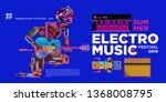 vector summer electro music... | Shutterstock .eps vector #1368008795