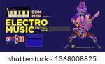 vector summer electro music... | Shutterstock .eps vector #1368008825