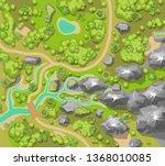 vector illustration. landscape. ... | Shutterstock .eps vector #1368010085
