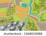vector illustration. green farm ...   Shutterstock .eps vector #1368010088
