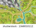 vector illustration. landscape...   Shutterstock .eps vector #1368010112